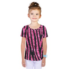 SKN4 BK-PK MARBLE (R) Kids  One Piece Tee by trendistuff