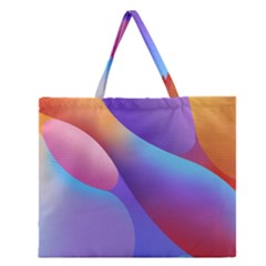 Color Orange Copy Zipper Large Tote Bag by AnjaniArt