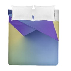 Purple Yellow Duvet Cover Double Side (Full/ Double Size) by AnjaniArt