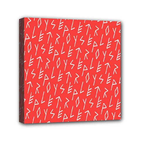 Red Alphabet Mini Canvas 6  X 6  by AnjaniArt