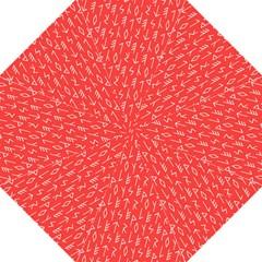 Red Alphabet Golf Umbrellas by AnjaniArt