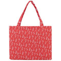 Red Alphabet Mini Tote Bag by AnjaniArt