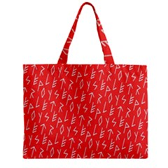 Red Alphabet Zipper Mini Tote Bag by AnjaniArt