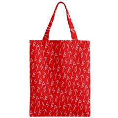 Red Alphabet Zipper Classic Tote Bag by AnjaniArt