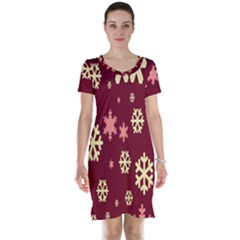 Red Resolution Version Short Sleeve Nightdress by AnjaniArt