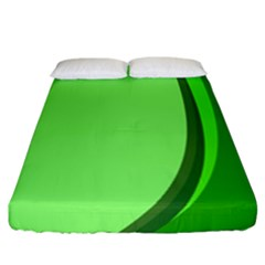 Simple Green Fitted Sheet (california King Size)