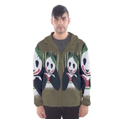 Simple Joker Panda Bears Hooded Wind Breaker (men) by AnjaniArt