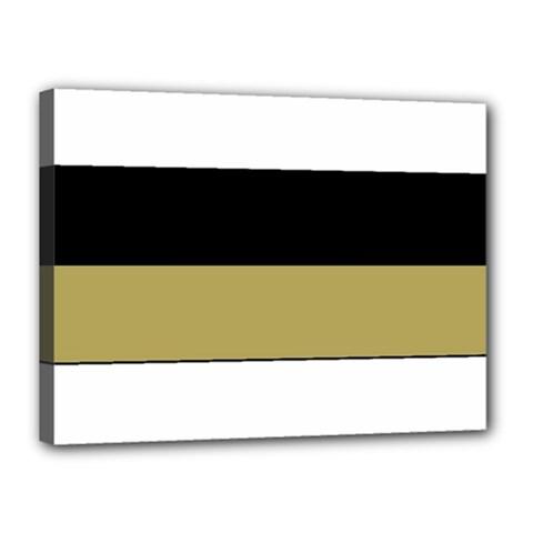 Black Brown Gold White Horizontal Stripes Elegant 8000 Sv Festive Stripe Canvas 16  X 12  by yoursparklingshop