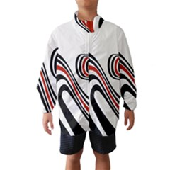 Curving, White Background Wind Breaker (Kids) by AnjaniArt