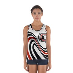 Curving, White Background Women s Sport Tank Top  by AnjaniArt