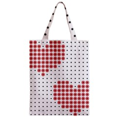 Heart Love Valentine Day Pink Zipper Classic Tote Bag by AnjaniArt