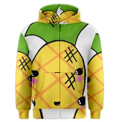 Kawaii Pineapple Men s Zipper Hoodie by CuteKawaii1982