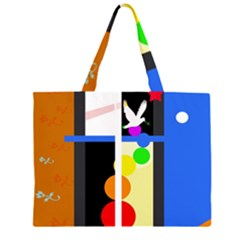 Anarchy  Large Tote Bag by Valentinaart