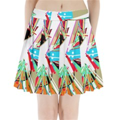 Colorful Big bang Pleated Mini Skirt by Valentinaart