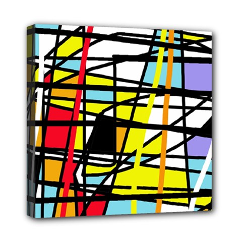 Casual Abstraction Mini Canvas 8  X 8