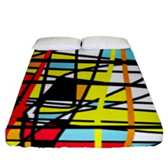 Casual Abstraction Fitted Sheet (queen Size) by Valentinaart