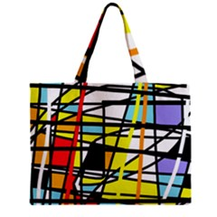 Casual Abstraction Zipper Mini Tote Bag by Valentinaart