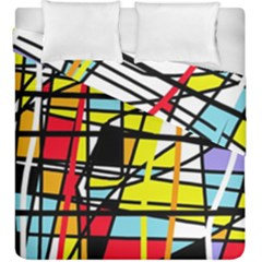 Casual abstraction Duvet Cover Double Side (King Size) by Valentinaart