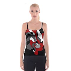 Creative Spot   Red Spaghetti Strap Top by Valentinaart