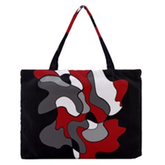 Creative Spot   Red Medium Zipper Tote Bag by Valentinaart