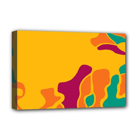 Colorful Creativity Deluxe Canvas 18  X 12   by Valentinaart