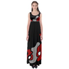 Red Creativity 2 Empire Waist Maxi Dress by Valentinaart