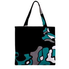Cyan Creativity 2 Zipper Grocery Tote Bag by Valentinaart