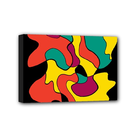 Colorful Spot Mini Canvas 6  X 4  by Valentinaart
