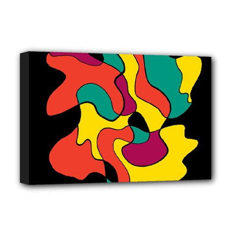 Colorful Spot Deluxe Canvas 18  X 12   by Valentinaart