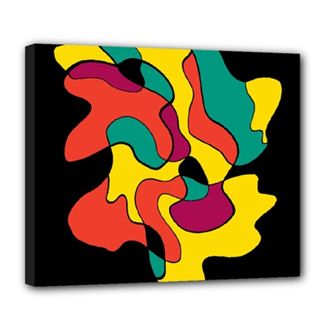 Colorful Spot Deluxe Canvas 24  X 20   by Valentinaart