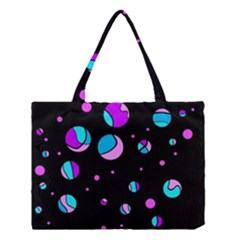 Blue And Purple Dots Medium Tote Bag by Valentinaart
