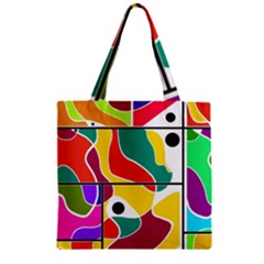 Colorful Windows  Zipper Grocery Tote Bag by Valentinaart