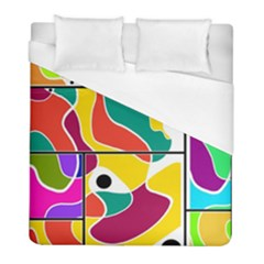 Colorful Windows  Duvet Cover (full/ Double Size) by Valentinaart