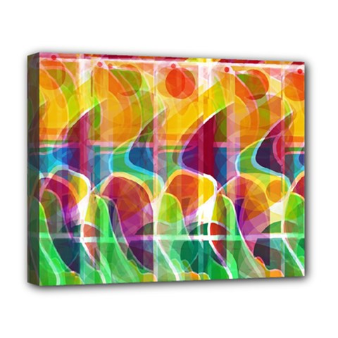 Abstract Sunrise Deluxe Canvas 20  X 16   by Valentinaart