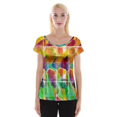 Abstract Sunrise Women s Cap Sleeve Top by Valentinaart