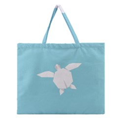 Pet Turtle Paper Origami Zipper Large Tote Bag by AnjaniArt