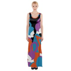 People Maxi Thigh Split Dress by AnjaniArt