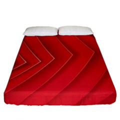 Rank Red White Fitted Sheet (queen Size) by AnjaniArt