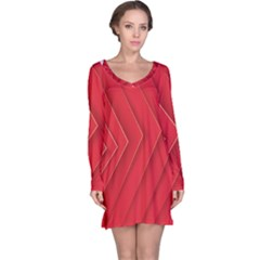 Rank Red White Long Sleeve Nightdress