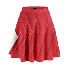 Rank Red White High Waist Skirt by AnjaniArt