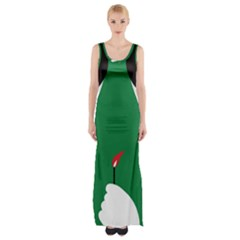 Two Face Maxi Thigh Split Dress by AnjaniArt