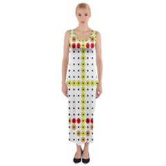 Vertical Horizontal Fitted Maxi Dress by AnjaniArt
