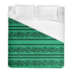 Green Barbwire Duvet Cover (full/ Double Size) by Valentinaart