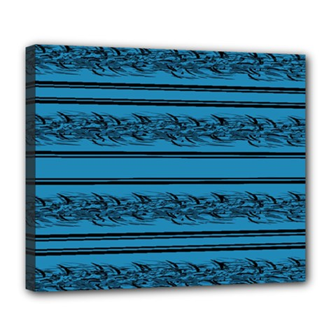 Blue Barbwire Deluxe Canvas 24  X 20   by Valentinaart