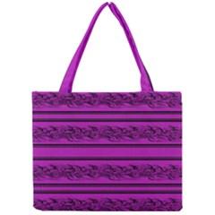 Magenta Barbwire Mini Tote Bag by Valentinaart