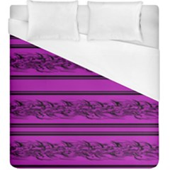Magenta Barbwire Duvet Cover (king Size) by Valentinaart