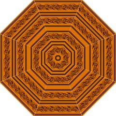 Orange Barbwire Pattern Straight Umbrellas by Valentinaart