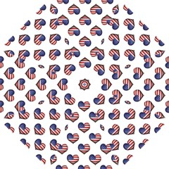 Usa Grunge Heart Shaped Flag Pattern Folding Umbrellas by dflcprints
