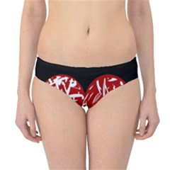 Valentine s Day Design Hipster Bikini Bottoms by Valentinaart