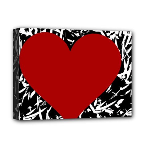 Red Valentine Deluxe Canvas 16  X 12   by Valentinaart